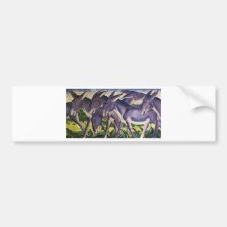 Frise d'âne par Franz Marc Autocollant De Voiture