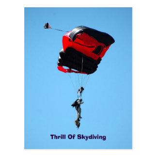 frisson de carte postale de parachutisme