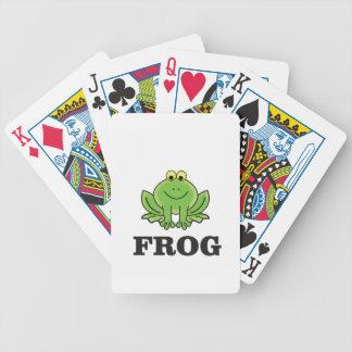 frogger de grenouille jeux de cartes
