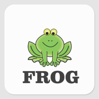 frogger de grenouille sticker carré
