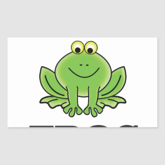 frogger de grenouille sticker rectangulaire