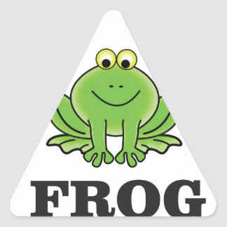 frogger de grenouille sticker triangulaire