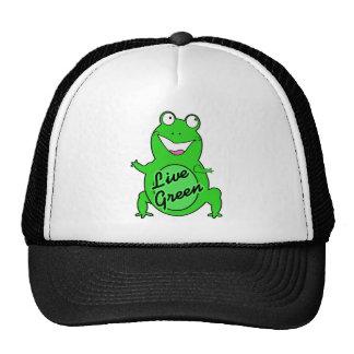 Froggie vert vivant casquette trucker