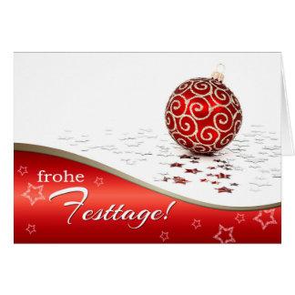 Frohe Festtage. Cartes de Noël en allemand