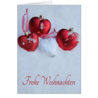 Frohe Weihnachten, carte de Noël allemande