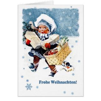 Frohe Weihnachten. Carte de Noël allemande