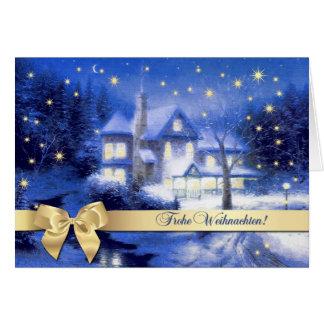 Frohe Weihnachten. Carte de voeux allemande de