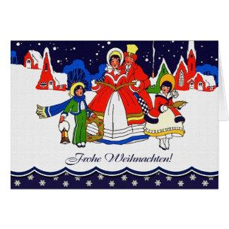 Frohe Weihnachten. Carte vintage allemande de