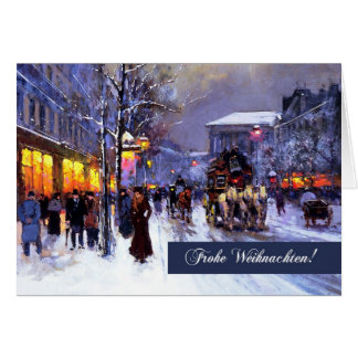 Frohe Weihnachten. Cartes de Noël allemandes