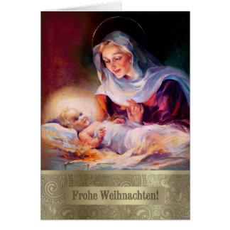 Frohe Weihnachten. Cartes de Noël allemandes de