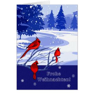 Frohe Weihnachten. Cartes de Noël en allemand