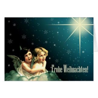 Frohe Weihnachten. Cartes de voeux allemandes de