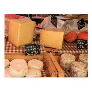 Fromage à un marché carte postale