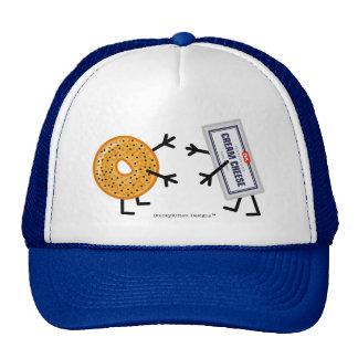 Fromage de bagel et fondu - amis drôles de fin casquette trucker