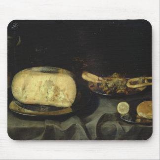 Fromage et dessert sec tapis de souris