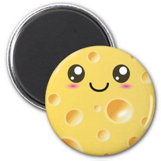 Fromage heureux mignon de Kawaii Magnet Rond 8 Cm