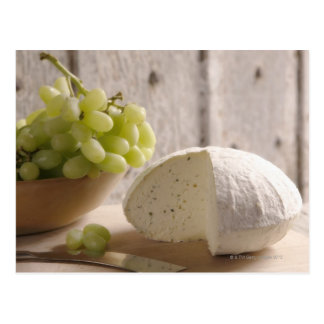 fromage organique à bord carte postale