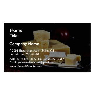 Fromages d'édam carte de visite standard
