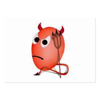 Fronçant les sourcils peu d'oeuf de Devil'ed Modèles De Cartes De Visite