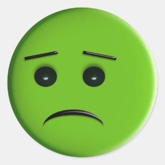 Smiley vert autocollants stickers smiley vert - Sourcil visage rond ...