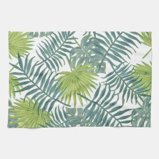 Frondes de palmier peignant l'illustration de serviette éponge