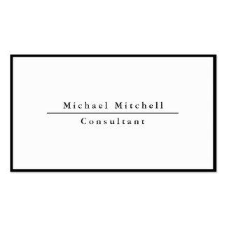 Frontière blanche noire élégante simple simple carte de visite standard