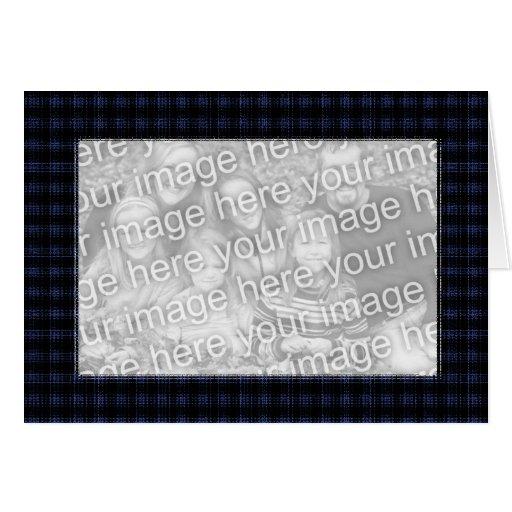 Frontière bleue et noire de modèle de carte - de p