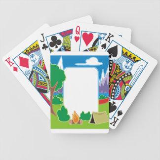 Frontière de camping jeu de cartes