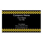Frontière de taxi cartes de visite personnelles