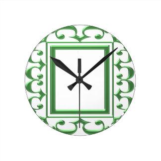 Frontière décorative VERTE : Pensez les utilisatio Pendule