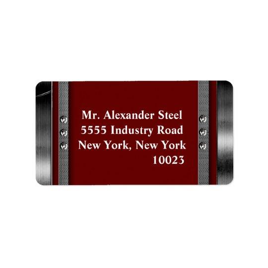 Frontière en métal avec les étiquettes de adresse