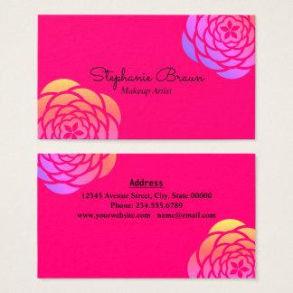 Frontière florale de couleur lumineuse cartes de visite