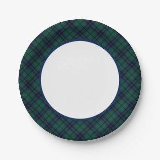 Frontière moderne de tartan de Keith de clan Assiettes En Papier
