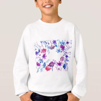 Frontière pourpre de fleur d'aquarelle sweatshirt
