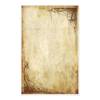 Frontières vintages - Webs Papier À Lettre Customisable