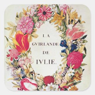 """Frontispice de """"La Guirlande de Julie"""", c.1642 Sticker Carré"""