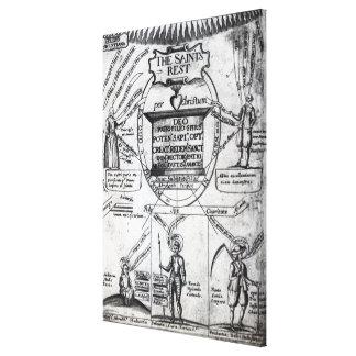 """Frontispice, """"les saints Rest éternel Toiles"""