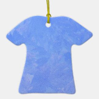 Frost bleu ornement t-shirt en céramique