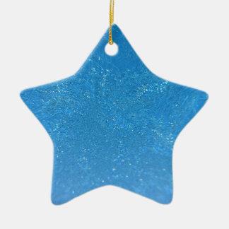 Frost lourd ornement étoile en céramique