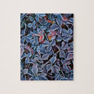 Frost sur le feuille d'automne, Orégon Puzzles