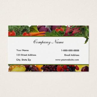 Fruit de frontière - cartes de visite végétaux