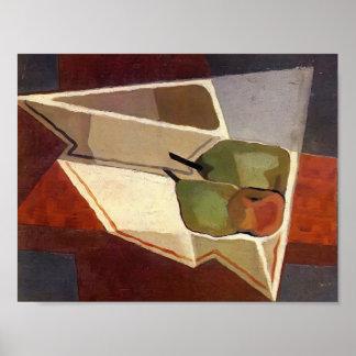 Fruit de Juan Gris- avec la cuvette Posters