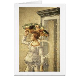Fruit de transport de femme, de la naissance de St Carte De Vœux