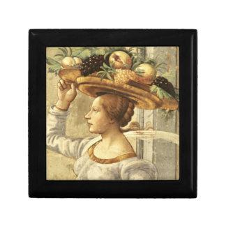 Fruit de transport de femme, de la naissance de St Petite Boîte À Bijoux Carrée