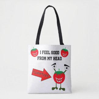 Fruit drôle de monstre de tomate avec des sac