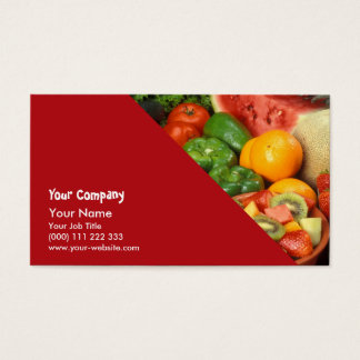 Fruit frais et légumes cartes de visite