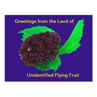 Fruit non identifié de vol de carte postale drôle
