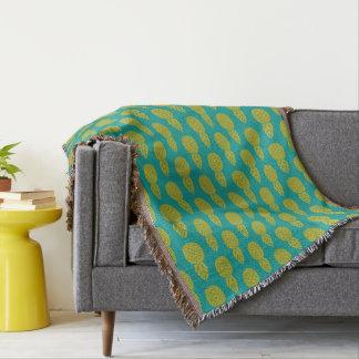 Fruit tropical d'ananas couvre pied de lit