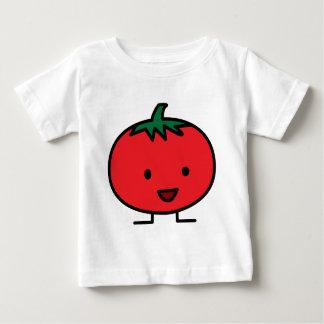 Fruit végétal rouge de tomate heureuse t-shirt pour bébé