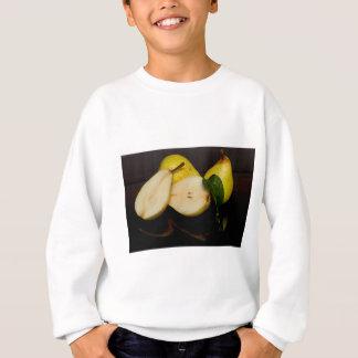 Fruit vert frais de poires sweatshirt
